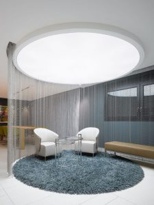 transparent ceiling