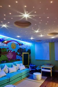 bedroom starry sky